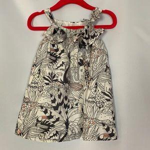 GAP Baby 12-18 mo animal print pink white dress.